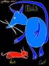 Cartoon: play (small) by ceesdevrieze tagged playfull,mouseandcat