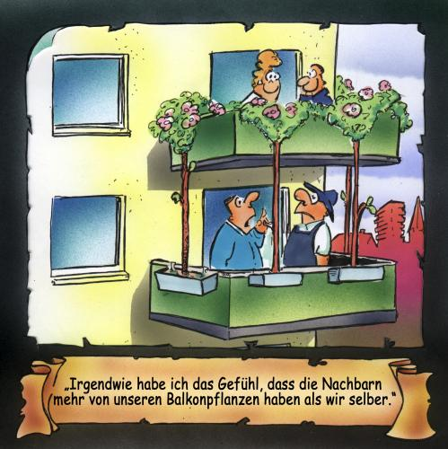 balkonpflanzen von hsb cartoon forschung technik cartoon toonpool. Black Bedroom Furniture Sets. Home Design Ideas