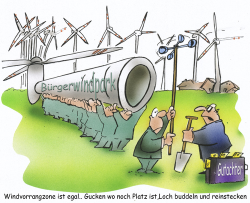 Cartoon: Bürgerwindpark (medium) by HSB-Cartoon tagged wind,windenergie,büregrwindpark,windrad,windräder,energie,strom,ökologie,cartoon,karikatur,hsb,airbrush,wind,windenergie,energie