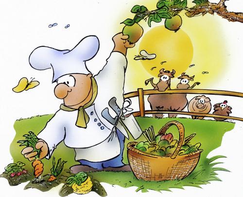 Ernährung von HSB-Cartoon | Natur Cartoon | TOONPOOL