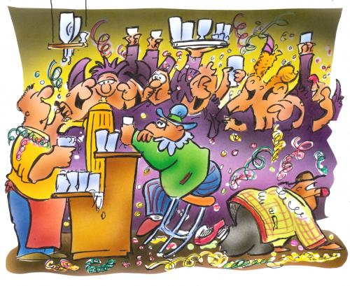 Cartoon: Karneval (medium) by HSB-Cartoon tagged karneval,feiern,alkohol,bier,wein,schnaps,feier,karneval,feiern,alkohol,bier,wein,schnaps,feier,party,saufen,köln,kneipe,bar,freizeit,feierkultur,kultur,tradition