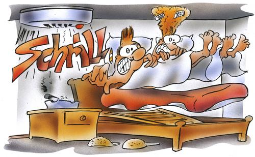 Rauchmelder von HSB-Cartoon  Forschung & Technik Cartoon  TOONPOOL