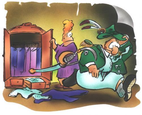 Sch tzenfest von hsb cartoon medien kultur cartoon for Schrank comic