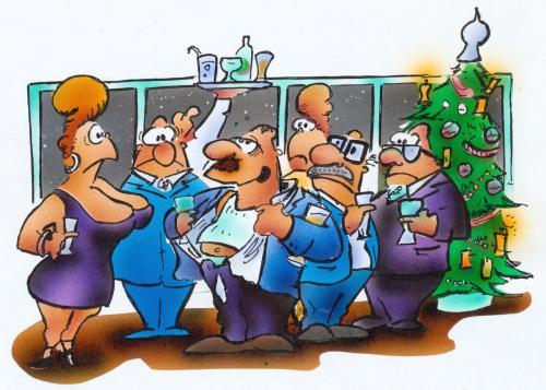 Weihnachtsfeier Cartoon.Weihnachtsfeier Von Hsb Cartoon Wirtschaft Cartoon Toonpool