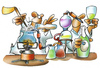 Cartoon: Alkoholherstellung (small) by HSB-Cartoon tagged alkohol,sekt,schnaps,chemie,schnapsbrennerei,brenenrei,flasche,labor,chemiker,wein,airbrush