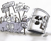 Cartoon: Atomkraftdemo (small) by HSB-Cartoon tagged demo,demonstration,akw,bza,atomkraftwerk,brennelementezwischenlager