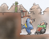 Cartoon: Barrierefrei (small) by HSB-Cartoon tagged barrierefrei,stadtplanung,stadt,gemeinde,senioren,rollstuhl