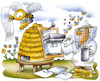 Cartoon: Bienenleben (small) by HSB-Cartoon tagged bee,drone,insects,nature,airbrush,biene,bienenleben,bienenstock,cartoon,honig,hsb,hsbc,hsbcartoon,hummel,illustration,imker,insekten,insektensterben,jahresplan,kalender,karikatur,karikaturist,lebensdauer,lebenszeit,natur,süß,umwelt,wespe,zucker
