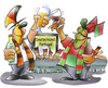 Cartoon: Deutschland Portugal (small) by HSB-Cartoon tagged deutschland,portugal,fussball,fußball,fan,fußballfan,bier,pils,wein,portwein,brd,public,viewing,stadion,europameisterschaft,polen,ukraine,fifa,uefa,airbrush