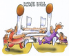 Cartoon: dodge ball (small) by HSB-Cartoon tagged dodgeball,ball,sport,funsport,airbrush
