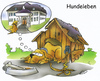Cartoon: dogs life (small) by HSB-Cartoon tagged hund,dog,animal,life,tiere,hundehütte,palast,villa,leben,cartoon,caricature