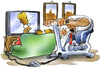Cartoon: Energiesparen (small) by HSB-Cartoon tagged fernseher,tv,energie,strom,energiesparen,trimmrad,sport,film