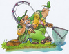 Cartoon: fishing (small) by HSB-Cartoon tagged fishing,angel,fish,fisherman