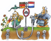Cartoon: Fracking002 (small) by HSB-Cartoon tagged fracken,fracking,erdgas,gasförderung,tiefengesteon,grenze,deutschland,nniederlande,holland,grenzregion,grenzgebiet,frackingindustrie,industrie,pistole,waffe,holländer,deutscher,karikatur,cartoon