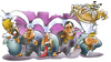 Cartoon: Grippewelle (small) by HSB-Cartoon tagged grippe,grippewelle,viren,grippeviren,krank,krankheit,keime,krankheitskeim,health,healthy,influenca,airbrush