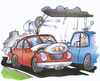 Cartoon: hail protection for cars (small) by HSB-Cartoon tagged hail,rain,rainshower,weather,storm,car,street,vehicle,tennis,driver,cushion,auto,kissen,strasse,wetter,hagel,sturm,unwetter,regen,hsb,cartoon,airbrush