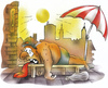 Cartoon: hot summer (small) by HSB-Cartoon tagged summer,sun,summerfeeling,warm,weather,relaxe,leisure,holiday,caricature,cartoon,sunburn,wetter,sommer,hitze,sonnenbrand,sunny,hot,sonnenmilch,sonenncreme,sonne,hitzewelle,karikatur,sonnenschirm,sonnenliege,urlaub,ferien,sommerwetter,sonnenschein