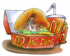 Cartoon: Mc Donalds (small) by HSB-Cartoon tagged mc,donalds,mcdonalds,fastfood,hamburger,cheeseburger,pommes,cola,fastfoodkette,imbiss,dorf,village,airbrush