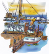 Cartoon: messy sailboat (small) by HSB-Cartoon tagged sailing,sailboat,messy,dirty,harbour,boat,ocean,sea,cartoon,caricature,airbrush