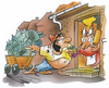 Cartoon: Muttertag (small) by HSB-Cartoon tagged vatertag,muttertag,ehe,ehepartner,eltern,kinder,suff,alkohol,feiertag,betrunken,airbrush