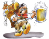 Cartoon: Oktoberfest in NRW (small) by HSB-Cartoon tagged oktoberfest,bier,maß,kiepenkerl,nrw,münster,münsterland,münsterländer,saufen,feiern,holzschuhe,weißwurst,haxe,händl,airbrush