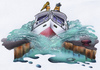 Cartoon: on the canal (small) by HSB-Cartoon tagged cartoon,airbrush,boat,ship,water,canal,channal,airbrushart