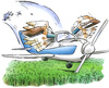 Cartoon: pilot (small) by HSB-Cartoon tagged aoreplane,plane,flight,pilot,corn,flugzeug,cessna,piper,propelermaschine,fliegen,mais