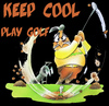 Cartoon: play golf (small) by HSB-Cartoon tagged golf,player,sport,golfplayer,course,golfer,golfball,golfspieler,golfplatz,golfschläger,cartoon,caricature,hsb,airbrush