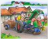 Cartoon: Traktor (small) by HSB-Cartoon tagged trakr,trecer,landwirtshaft,agrar,maschine,hof,farm