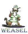Cartoon: weasel (small) by HSB-Cartoon tagged weasel,animal,coach,sport,mascot,maskotchen,wiesel,trainer,airbrush,airbrushmotiv,airbrushillustration