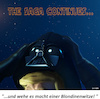 Cartoon: The Saga Continues... (small) by Cartoonfix tagged darth,vader,star,wars,donald,trump,new,job