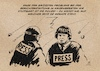 Cartoon: Presse in Krisenregionen (small) by Guido Kuehn tagged polizei,stuttgart,querdenken,zdf,corona,covid
