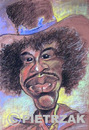 Cartoon: Jimmy Hendrix (small) by Darek Pietrzak tagged hendrix jimmy caricature rock