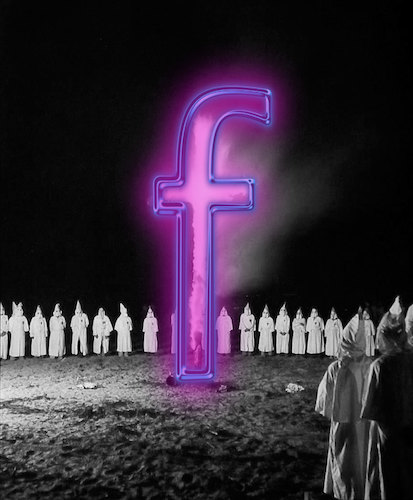 Cartoon: Evolution (medium) by poleev tagged facebook,zuckerberg,kkk,fascism