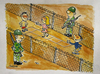 Cartoon: between the borderlines (small) by ismailozmen tagged soldier,border,ismail,özmen