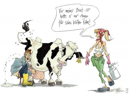 Brust-OP von Jörg Halsema | Politik Cartoon | TOONPOOL