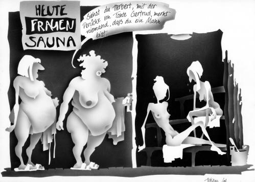 Cartoon: sauna (medium) by Jörg Halsema tagged sauna,