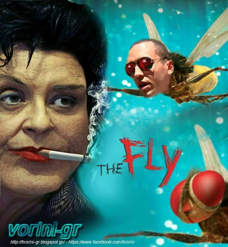 Cartoon: Kanelli Liana and the Fly (medium) by takis vorini tagged vorini