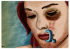 Cartoon: Silence (small) by miguelmorales tagged gender,violence,family,female,abuse,trauma