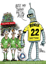 Cartoon: Bend-er it like Beckham! (small) by campbell tagged borussia,dortmund,werder,bremen,bender,football