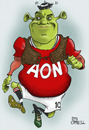 Cartoon: separated at birth! (small) by campbell tagged watne,rooney,shrek,parody,movie,football,sport,manchester,united