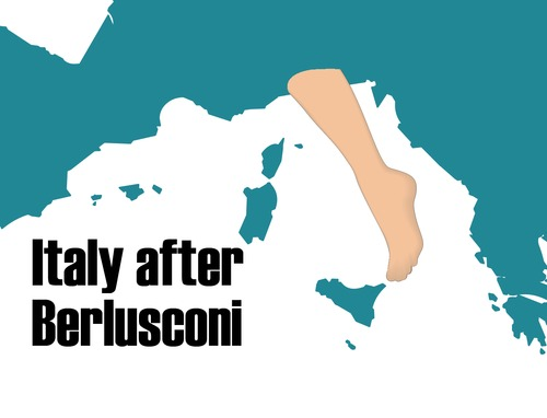 Cartoon: ITALY AFTER BERLUSCONI (medium) by Giuseppe Scapigliati tagged italy,after,berlusconi
