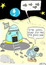 Cartoon: detail!!! (small) by yasar kemal turan tagged big,step,moon,apollo18,astronaut,space,world,human,aliens,ufo