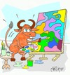 Cartoon: Favorite colors (small) by yasar kemal turan tagged red,bull,picture,colors,love