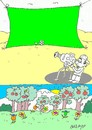 Cartoon: green curtain (small) by yasar kemal turan tagged green,curtain