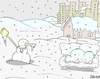 Cartoon: homeless (small) by yasar kemal turan tagged homeless snowman life human love winter