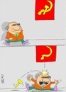 Cartoon: red flag (small) by yasar kemal turan tagged red flag sickle hammer politician funny
