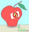 Cartoon: selfishness-pesticides (small) by yasar kemal turan tagged selfishness love apple natural worm hormone pesticides