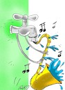 Cartoon: symphony (small) by yasar kemal turan tagged symphony