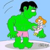 Cartoon: vegetable soup (small) by yasar kemal turan tagged vegetable,soup,hulk,love